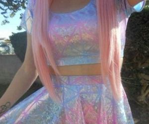 grunge, pink, and hair image