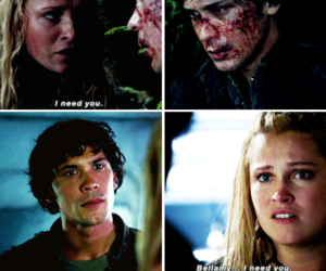the hundred, clarke griffin, and bellarke image