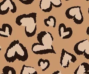hearts, background, and leopard image