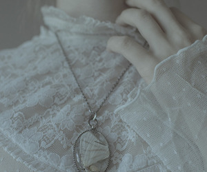 vintage, white, and necklace image