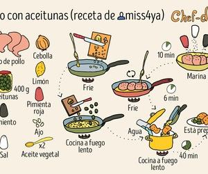 comida, diy, and pollo con aceitunas image