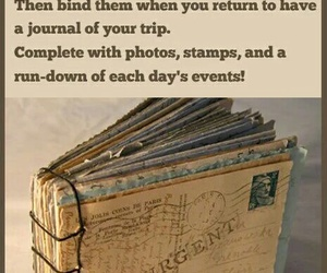 postcard, travel, and journal image