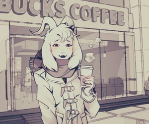hipster, starbucks, and undertale image