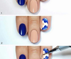 blue nails, decor, and diy image