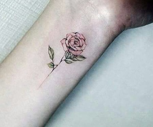 tattoo, flower, and pale image