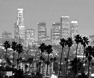 b&w, city, and la image