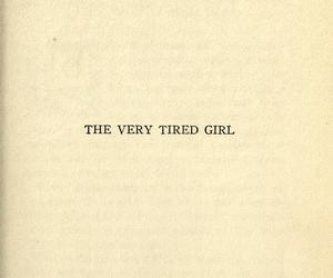 book, girl, and tired image