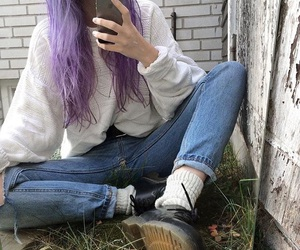 grunge, hair, and style image