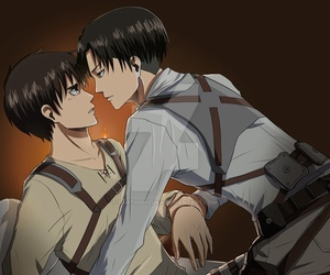 Boys Love, kiss, and rivaille image