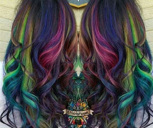 colorful and hairstyles image