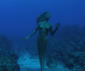 ocean, photo, and statue image