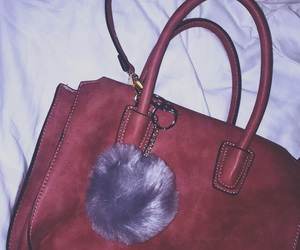 dark pink, puff, and handbag image