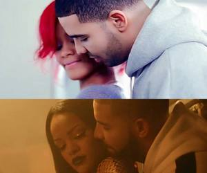 Drake, rihanna, and work image