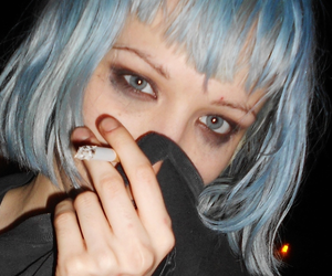 grunge, blue, and hair image