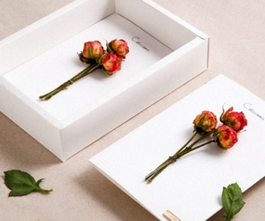 box, flowers, and rose image