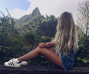 beauty, nature, and hair image