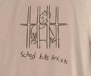 school, artist, and art image