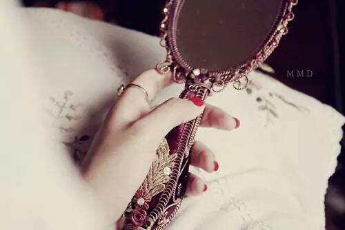 girl, mirror, and soft image