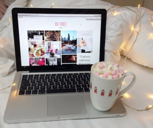 coffee, laptop, and tumblr image
