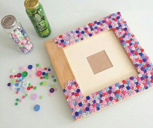 diy, buttons, and decoration image
