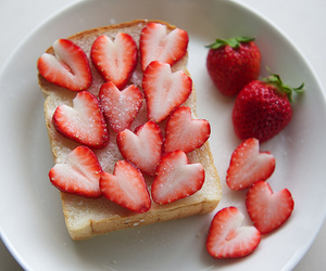 bread, strawberry, and chocolate image