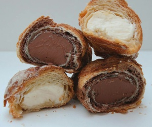 chocolate, cream, and croissant image
