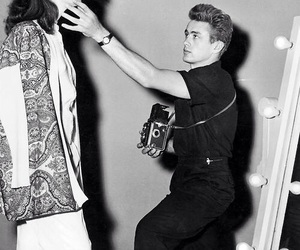 camera, james dean, and 50s image