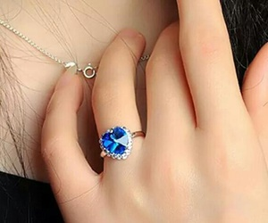 beautiful, ring, and blue image