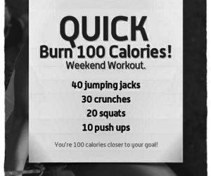 motivation, burn calories, and workout image