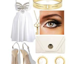 bracelet, purse, and white image