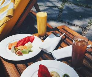 breakfast, FRUiTS, and summer image