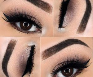 eyebrows, fashion, and make up image