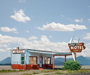 clouds, motel, and sky image