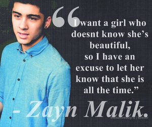 one direction, zayn malik, and quote image