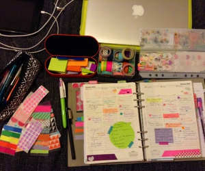 notebook, organization, and planner image