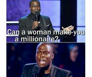 funny, woman, and kevin hart image