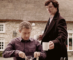 holmes, Martin Freeman, and benedict cumberbatch image