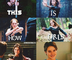 girl, divergent, and hunger games image