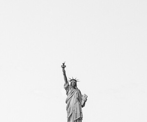 black and white and statue of liberty image