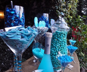 blue, buffet, and candy image