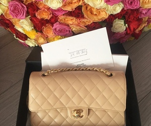 chanel, bag, and roses image