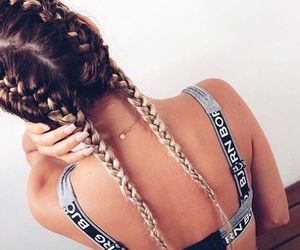 back, beauty, and braid image