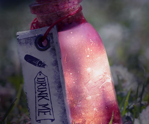 drink me, drink, and magic image