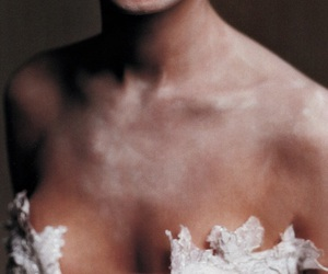 collarbones, girl, and pale image