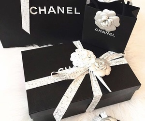 chanel, black and white, and chanel gifts image