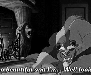 disney, black and white, and quote image
