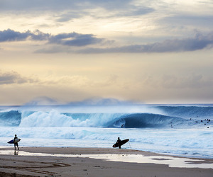 sea, beach, and surf image