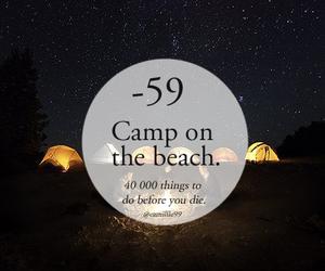 beach, camp, and night image