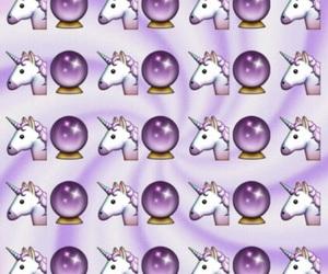 unicorn, wallpaper, and emoji image