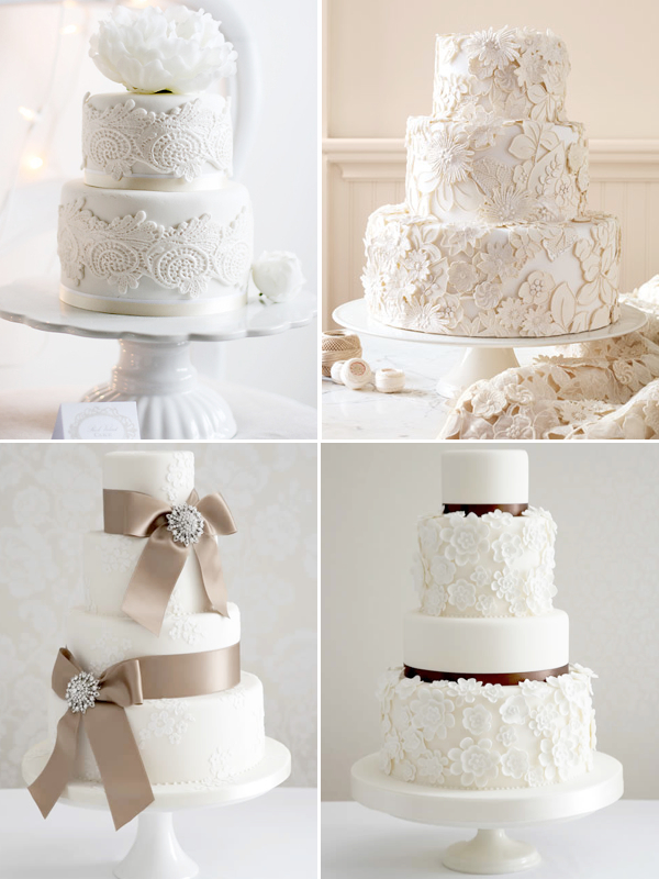 White Lace Wedding Cakes Wedding Ideas Wedding Trends And
